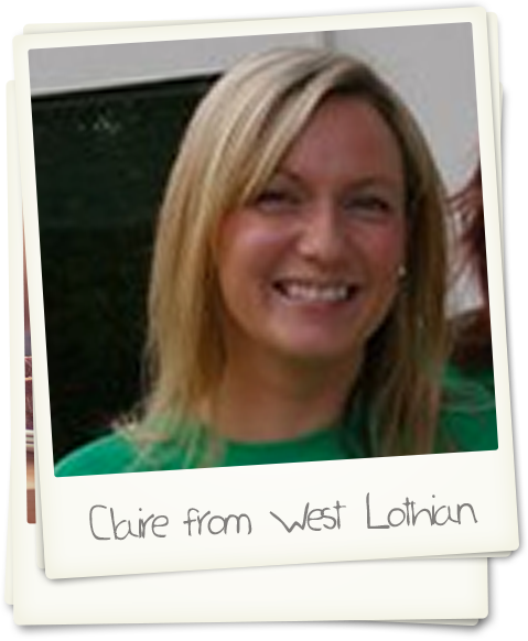 Claire from West Lothian